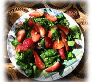 Salade d'épinards aux fraises