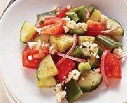 Salade grecque express pour deux