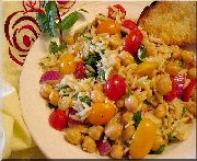 Salade orzo et pois chiches