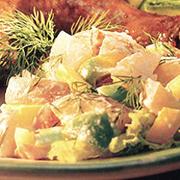Salade de pommes de terre rouges aux trois poivrons