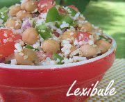 Salade de riz et pois chiches