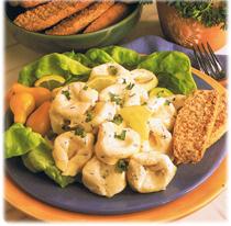 Salade de tortellini et basilic