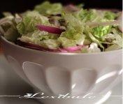 Salade de chou nappa crémeuse au cari