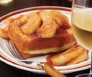 Sandwich-dessert aux pommes et au caramel