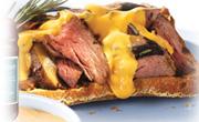 Sandwiches au bifteck au poivre