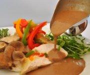 Sauce aux champignons et ail rôti