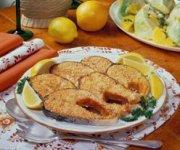 Saumon grillé avec beurre de sésame