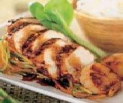 Sauté de poulet, de pétoncles et de légumes