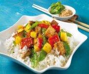 Sauté de tofu à la mangue et au basilic