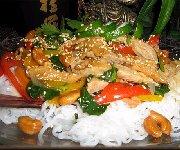 Sauté de veau à l'asiatique, et aux poivrons