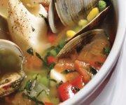 Soupe au poisson et aux palourdes