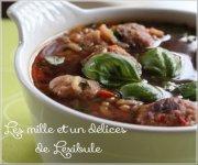 Soupe au riz et aux boulettes de poulet