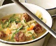 Soupe aux boulettes de dinde 1
