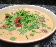 Soupe aux champignons et riz sauvage