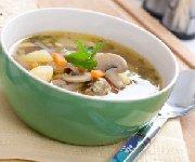 Soupe aux champignons Portobello
