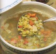 Soupe aux pois verts, secs