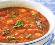 Soupe aux poivrons, tomates et boeuf (Mijoteuse)