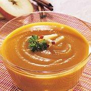 Soupe aux pommes et à la courge musquée