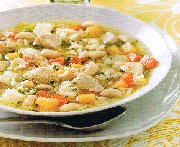 Soupe campagnarde au poulet