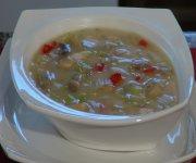 Soupe crémeuse au poulet