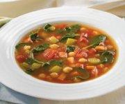 Soupe espagnole aux pois chiches, aux épinards et au chorizo