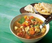 Soupe-repas au poulet du Moyen-Orient