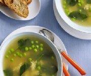 Soupe Stracciatella printanière aux épinards