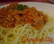 Spaghetti à la sauce bolognaise 3