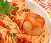 Spaghettini à la pétoncle Arrabbiata