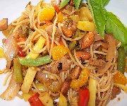Spaghettini au porc et légumes