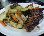 Steak aux deux moutardes