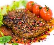 Steak aux grains de poivre
