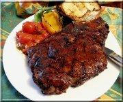 Steak cowboy et salsa Rio Grande