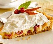 Tarte à la crème pâtissière vanillée, aux pommes et aux canneberges