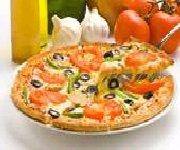 Tarte à la tomate, au jambon cru et au fromage