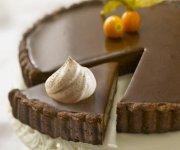Tarte au chocolat noir et à la cannelle