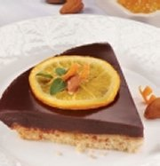 Tarte au chocolat parfumée à l'orange