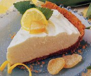 Tarte au fromage, au citron et au gingembre