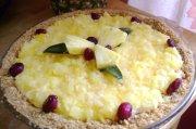 Tarte au fromage et à l'ananas
