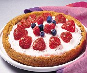 Tarte aux fruits frais et à la crème glacée