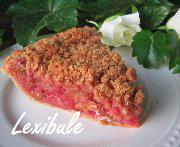 Tarte crumble aux framboises et rhubarbe