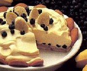 Tarte pouding aux bananes et aux bleuets