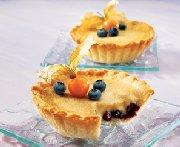 Tartelettes aux bleuets et au sucre à la crème