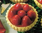 Tartelettes au fromage et fraises