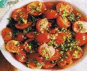 Tomates cerises marinées