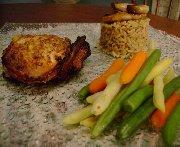 Tournedos de poulet au sirop d'érable, à l'orange et au basilic