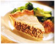 Tourtière au poulet et au porc haché