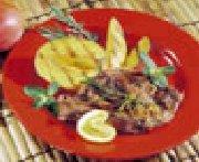 Tranches d'épaule d'agneau aux mangues