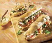 Trio de sandwichs pour pique-nique