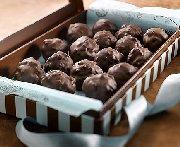 Truffes au chocolat noir et blanc
